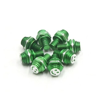8pcs M8 X 10mm Smiling Face Pattern Motorcycle Hex Screws Bolts Fasteners Green