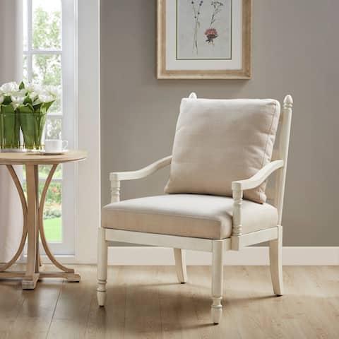 Braxton Cream Accent Chair by Martha Stewart