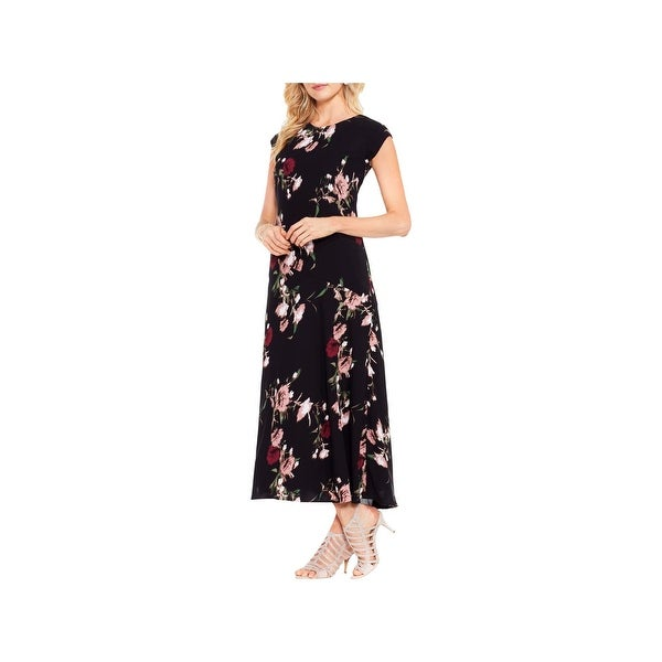 Shop Vince Camuto Womens Maxi Dress Floral Print Cap Sleeves Free