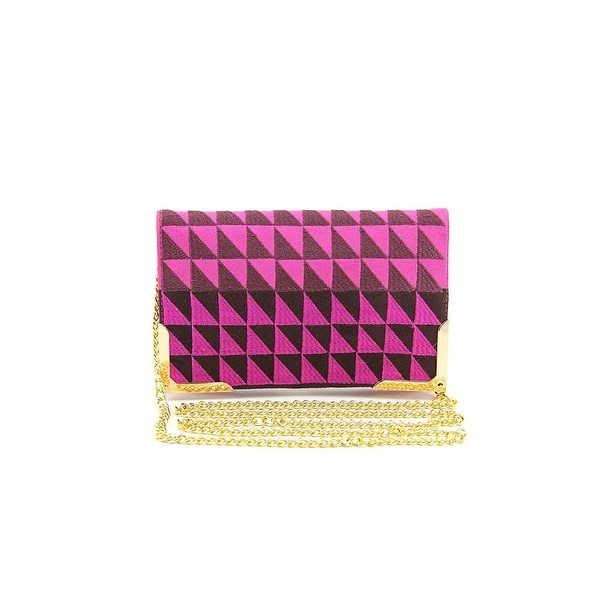 Shiraleah Trina Women Synthetic Pink Clutch