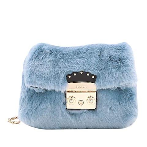 Furla Womens Light Blue Metropolis Crossbody Bag