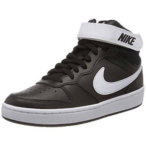Nike Court Borough Mid 2 (Gs) Casual Shoes Big Kids Cd7782-010 Size 6 Black/White