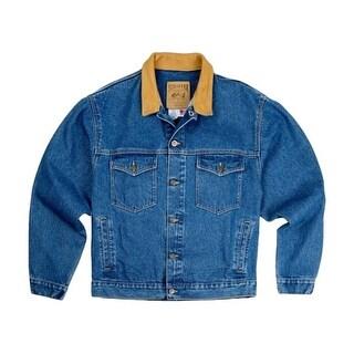 Schaefer Western Jacket Mens Lined Legend Denim Cowhide Indigo