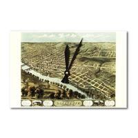 Lafayette, Indiana - Panoramic Map (Acrylic Wall Clock) - acrylic wall clock