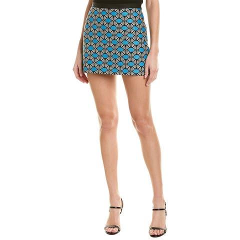 Milly Ribbon Trim Mini Skirt