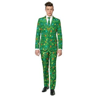 Green Christmas Tree Men's Christmas Costume Suit Large,Medium,Small,X-Large
