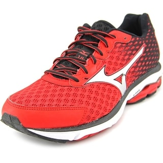 Mizuno Wave Rider 18 Men Round Toe Synthetic Red Running Shoe
