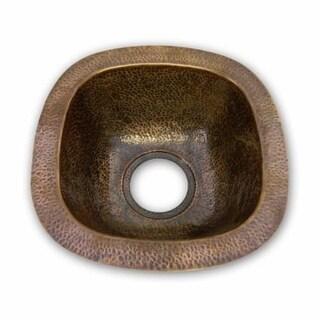 """Houzer HW-SCHBF Hammerwerks 12-1/2"""" Single Basin Undermount Hammered Copper Bar Sink"""