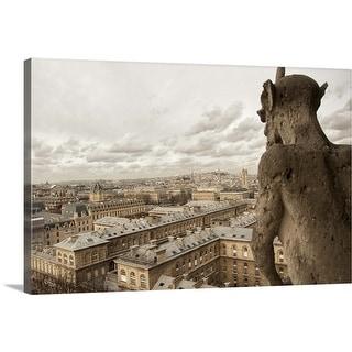 """Gargoyles on Notre Dame"" Canvas Wall Art"