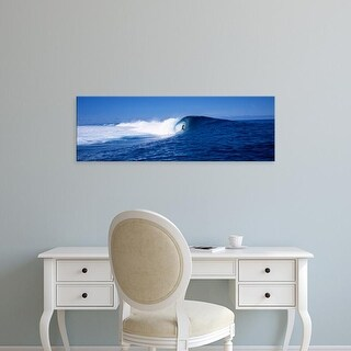 Easy Art Prints Panoramic Images's 'Surfer in the sea, Tahiti, French Polynesia' Premium Canvas Art