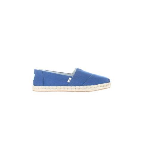 TOMS Womens Classic Blue Espadrilles Size 6.5
