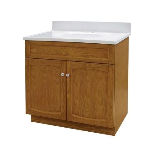 Shop Foremost HE Heartland Bathroom Vanity With Vanity - 31 bathroom vanity with top
