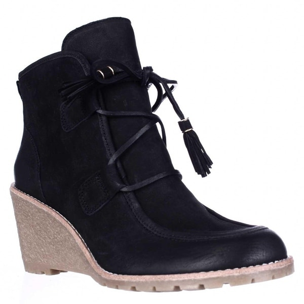 G.H. Bass & Co. Teresa Wedge Ankle Booties, Black - 9 us