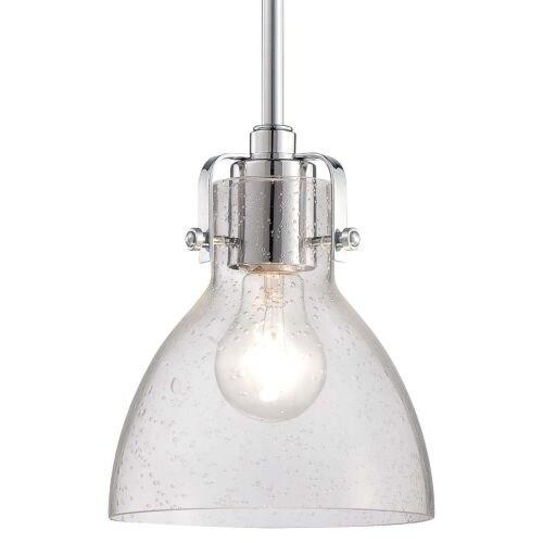 "Minka Lavery 2244-77 1 Light 8"" Height Indoor Mini Pendant in Chrome"
