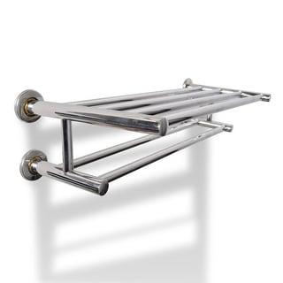 vidaXL Stainless Steel Towel Rack 6 Tubes