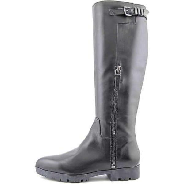 Carolinna Espinosa Womens Eryca Leather Pointed Toe Knee High Fashion Boots