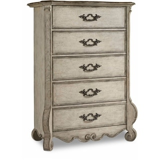 "Hooker Furniture 5350-90110  45-1/4"" Wide 5 Drawer Hardwood Dresser from the Chatelet Collection - Paris Vintage"