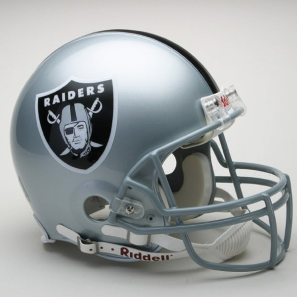 49df4061d7b Shop Oakland Raiders Helmet Riddell Authentic Full Size VSR4 Style - Free  Shipping Today - Overstock.com - 22203285