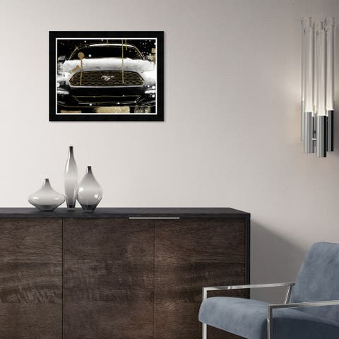 Hatcher & Ethan 'Car Glitz' Wall Art Framed Print - Black, Gold