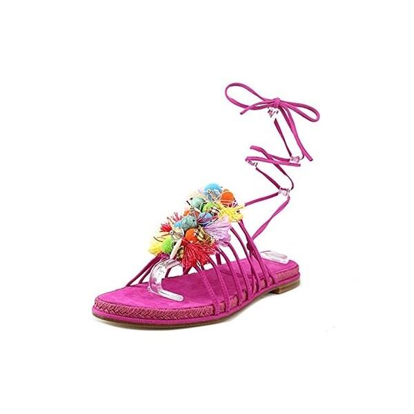 Stuart Weitzman Womens Noodles Flat Sandals Suede Espadrille