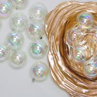 "32ct Clear Iridescent Shatterproof Shiny Christmas Ball Ornaments 3.25"" (80mm)"