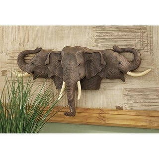 RAISED EXPECTATIONS ELEPHANT PLAQUE DESIGN TOSCANO Elephants Elephant sculpture
