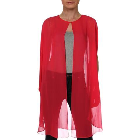 SLNY Womens Jacket Chiffon Sheer