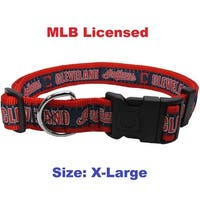 MLB Cleveland Indians Dog Collar - Extra large