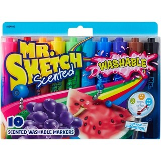 Mr.Sketch Scented Washable Marker Set 10/Pkg-Chisel