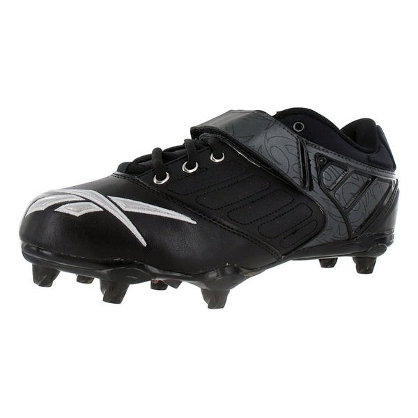 Reebok Bulldodge Low Sd2 Lc Mens Football Shoes Black/silver/red - 10.5 d(m) us