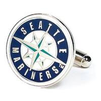Silver Plated Seattle Mariners Cufflinks