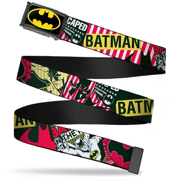 Batman Fcg Black Yellow Black Frame Batman Caped Crusader Webbing Web Web Belt