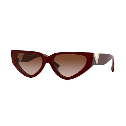 Valentino VA4063 513913 54 Bordeaux Woman Irregular Sunglasses