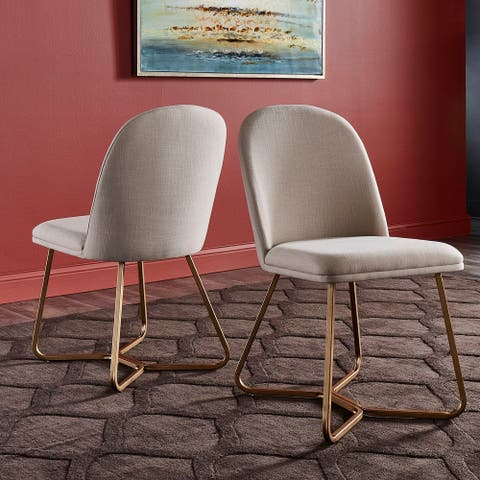 Cheyenne Gold Metal Dining Chair (Set of 2) by iNSPIRE Q Modern