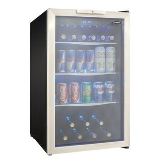 Danby DBC039A1 20 Inch Wide 124 Can Capacity Free Standing Beverage Center with