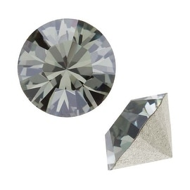 Swarovski Crystal, 1088 Xirius Round Stone Chatons pp14, 40 Pieces, Black Diamond F