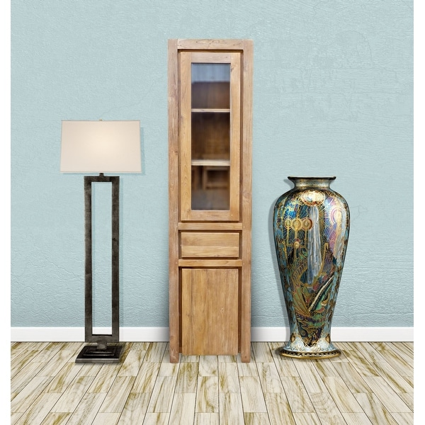 Chic Teak Recycled Teak Wood Solo Cupboard / Curio Cabinet. Opens flyout.