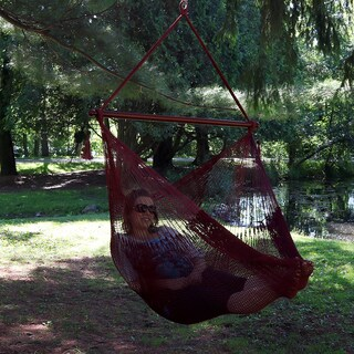 Sunnydaze Hanging Cabo Extra Large Hammock Chair, 47 Inch Wide Spreader Bar, Max Weight: 360 Pounds, Color Options Available (3 options available)