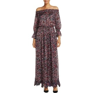 Elie Tahari Womens Danielle Maxi Dress Silk Floral Print