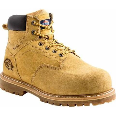 """Dickies Men's Prowler 6"""" Steel Toe Work Boot Wheat Suede"""