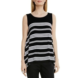 Vince Camuto Womens Casual Top Striped Sleeveless