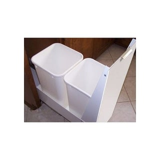"""Imperial RC18 RC 18"""" Long Double Bin Recycling Cabinet with Full Extension Slide"""