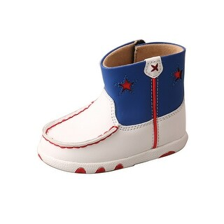 Twisted X Casual Shoes Kids Stars Driving Mocs White Red Blue