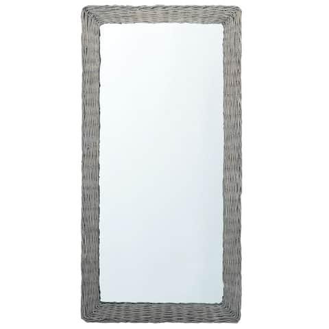 "vidaXL Mirror 47.2""x23.6"" Wicker"