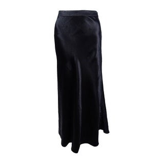 Vince Camuto Women's Hammered Satin Maxi Skirt - rich black