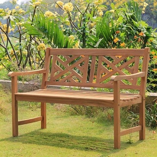 Link to Cambridge Casual Isla 4-foot Teak Wood Patio Bench Similar Items in Patio Furniture