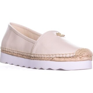 Coach Rye Espadrille Wave Sole Flats, Chalk