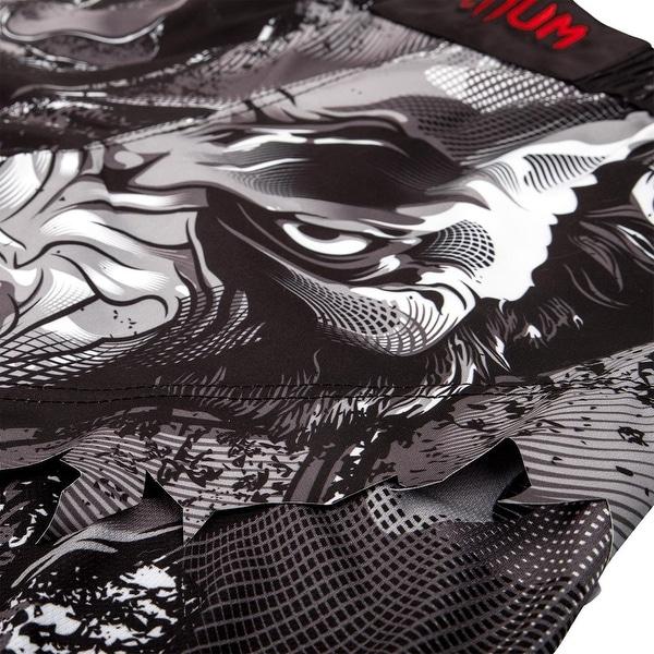 Black//Gray Venum Werewolf Side Mesh Panel MMA Fight Shorts