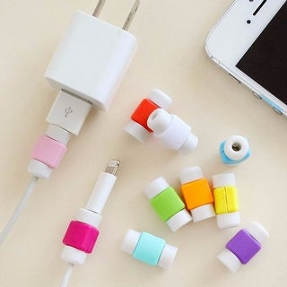 Colorful USB Cable Protector (4-Pack) (Option: White)