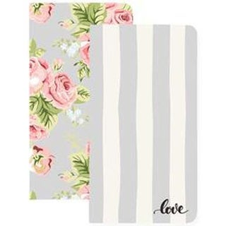 Love Stripe & Floral W/32 Gray Sheets - Color Crush Traveler's Planner Notebooks